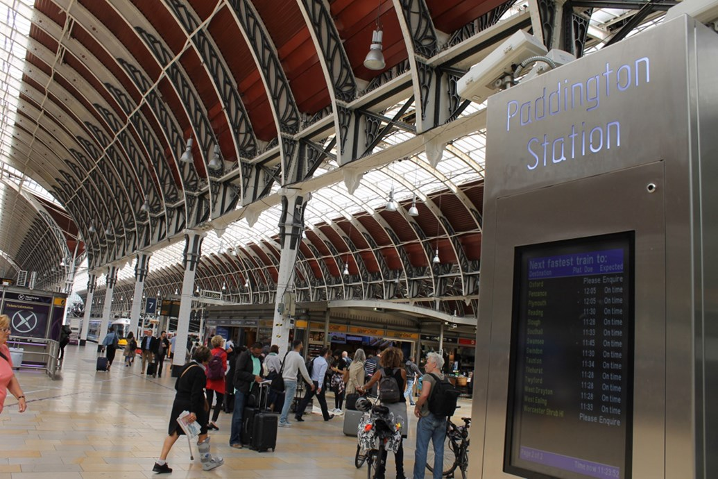 Passengers benefitting from more reliable railway as train performance reaches seven year high: Paddington concourse