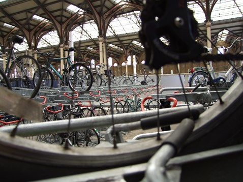 Double-decker cycle racks at Liverpool Street station (2)