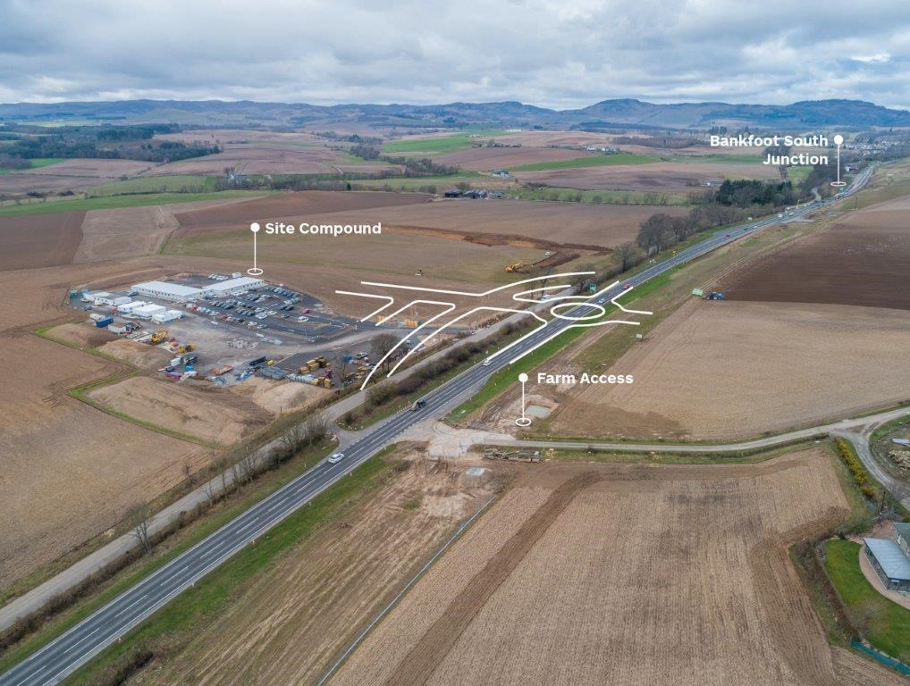 A9 Luncarty to Birnam Roundabout Map