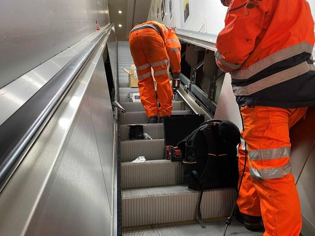 UV handrail sanitiser installation 2