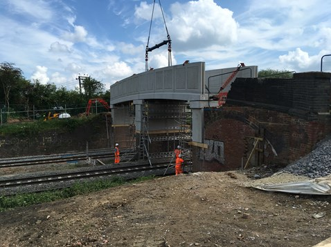 Network Rail engineers carry out upgrades to Bush bridge