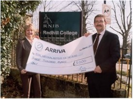 College funds receive a boost courtesy of Arriva: College funds receive a boost courtesy of Arriva