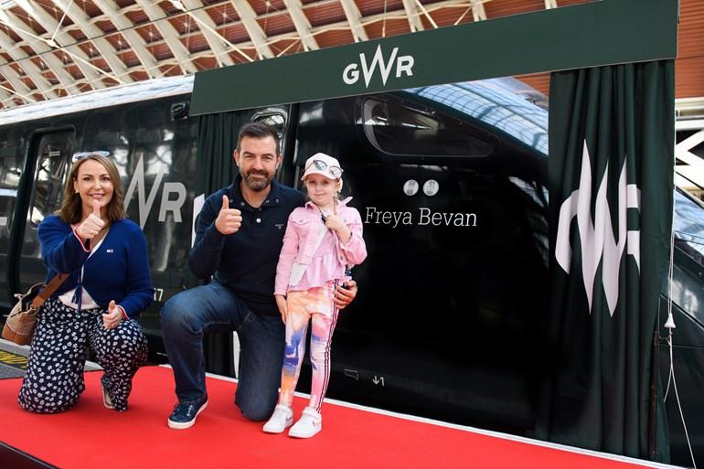 Brave Freya, nine, has train named in her honour by Great Western Railway