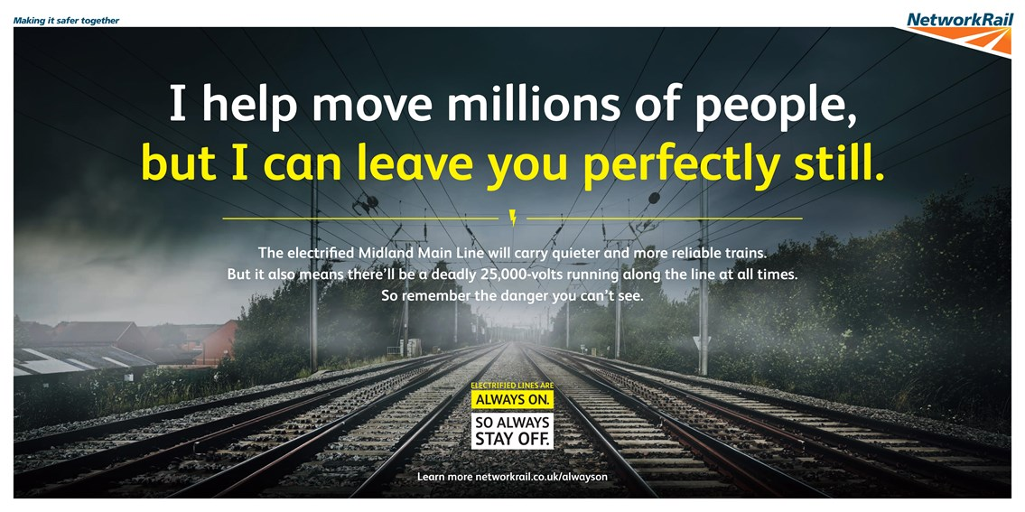 Network Rail launches hard-hitting safety campaign to warn of dangers of trespassing on electrified railway: Network Rail launches hard-hitting safety campaign to warn of dangers of trespassing on electrified railway