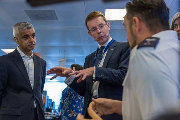 TfL Press Release - Deal paves way for knowledge sharing between London and West Midlands: TfL Image - Sadiq Khan and Andy Street at STTOC KW012