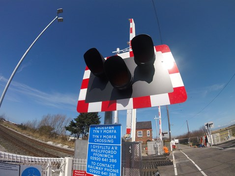 Tyn Y Morfa level crossing has also been upgraded to a manually controlled barrier with CCTV