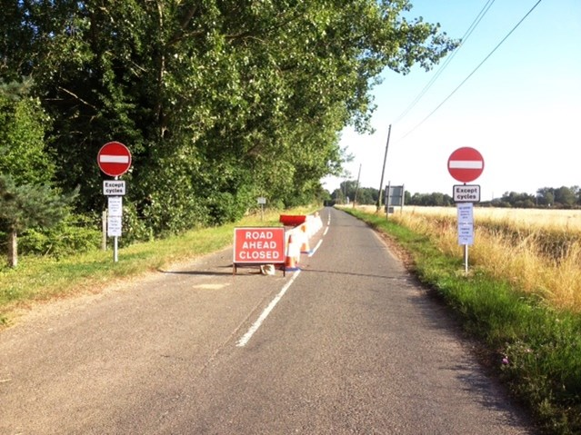 Motorists face prosecution for risking lives at one-way crossing: Signs on the approach to Lolham level crossing which is now one-way