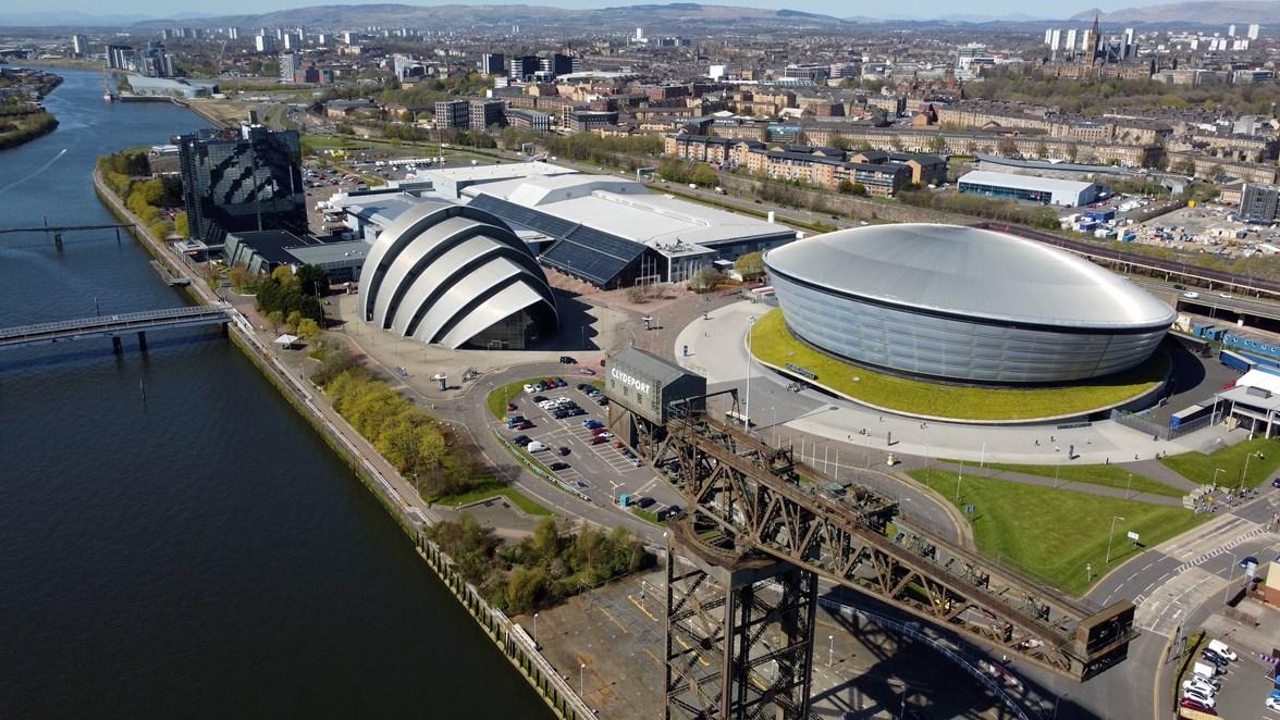 COP 26  - Scottish Events Campus aerial i