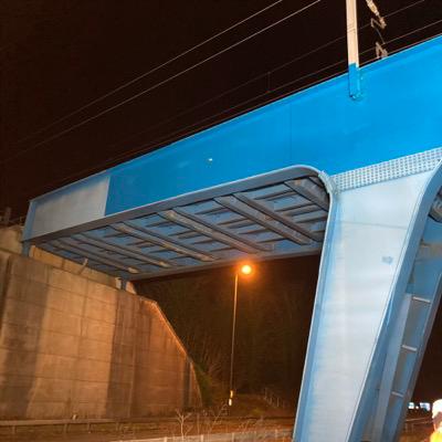 Blue bridge (after)