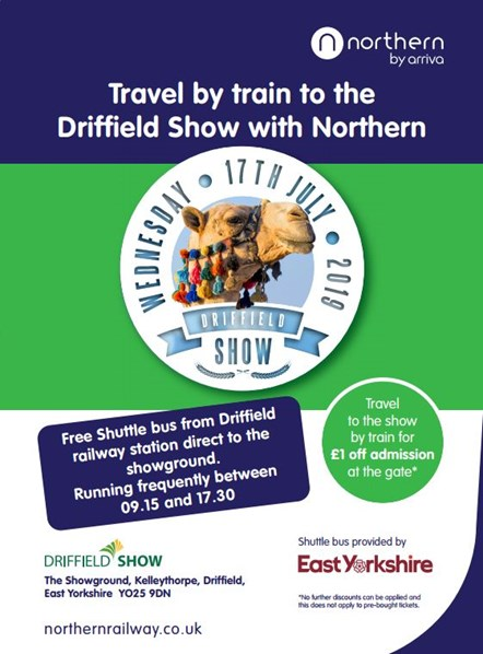 Northern supports the Driffield Show: Driffield show 2019 poster