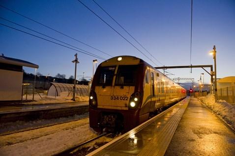 First trains on Airdrie-Bathgate _1