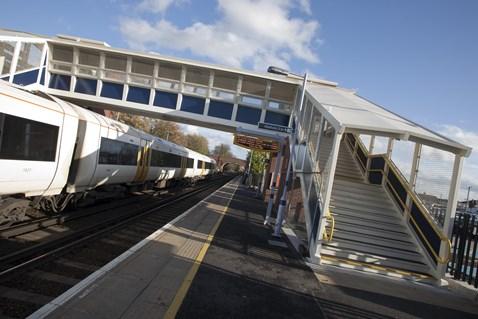 New Footbridge at Staplehurst station