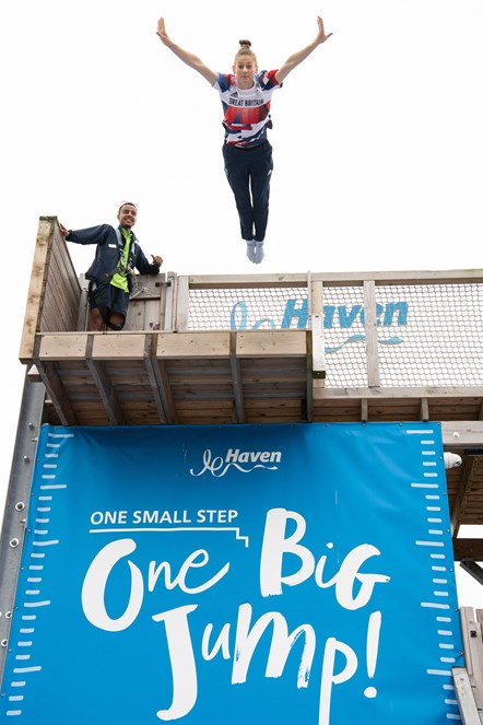 Bryony Page on The Jump at Caister-on-Sea