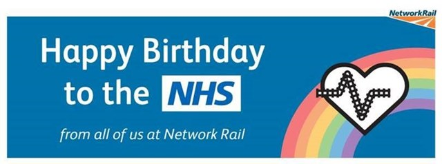 Stations across the country light-up to help celebrate NHS birthday: NHS birthday