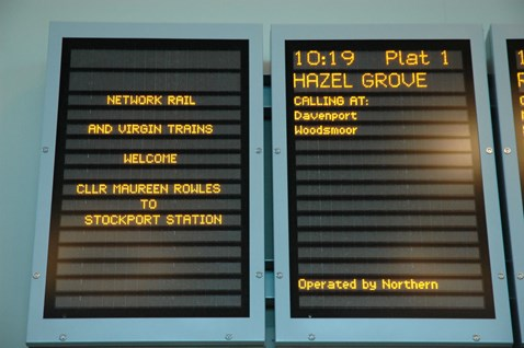 Stockport information screens