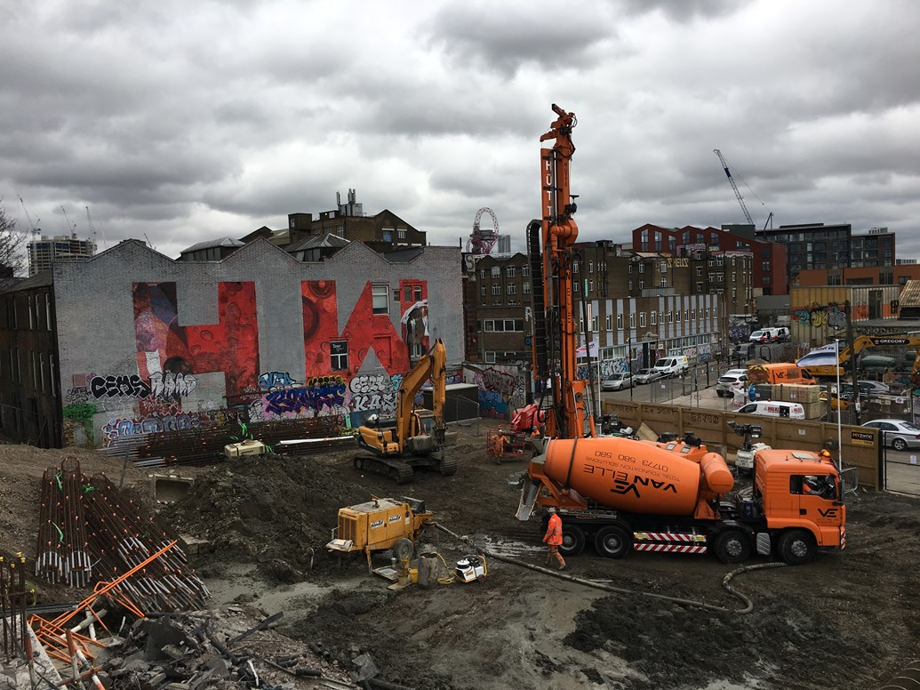 New photos: Hackney Wick station works well underway: Hackney Wick station development