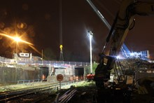 Time-lapse film shows the part demolition and reconstruction of Cardiff Road bridge