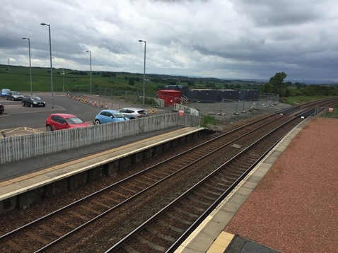 Platforms at Shotts station