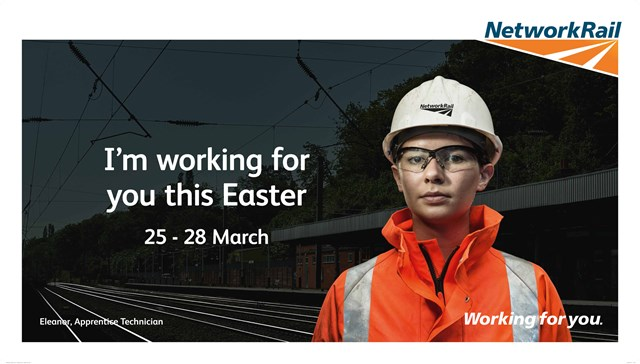Easter Railway Upgrade Plan to deliver better, more reliable railway for passengers across the south: Check Before You Travel Easter 2016