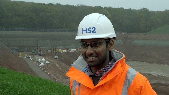 HS2 launches recruitment campaign to mark National Apprenticeship Week: Shehan is studying for a degree apprenticeship in Civil Engineering