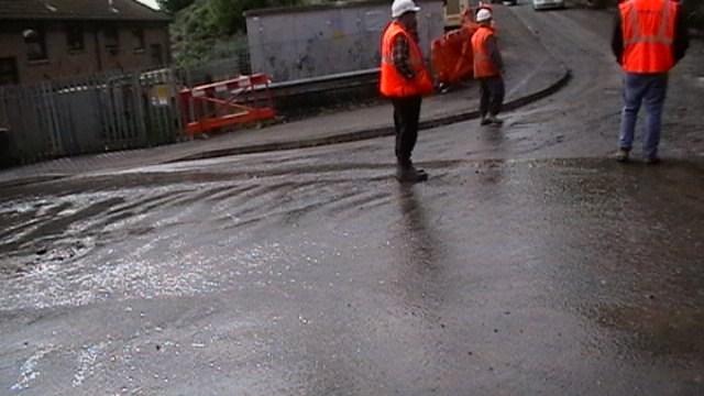 Flooding near Llandbradach