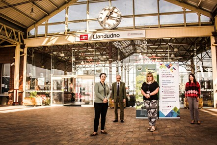 Llandudno station with Creating Enterprise