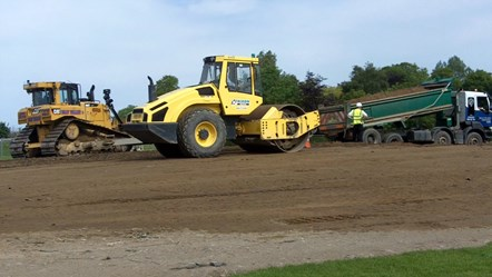 Work starts of earth amphitheatre in Elgin park.: Work starts of earth amphitheatre in Elgin park.