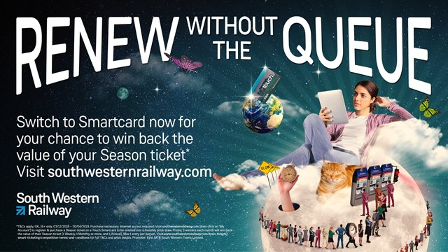 Renew without the queue - advert