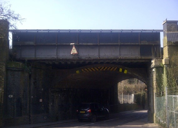 Motorists advised to plan ahead as work on new Purley railway bridge gets under way: Old Lodge Lane bridge, Purley
