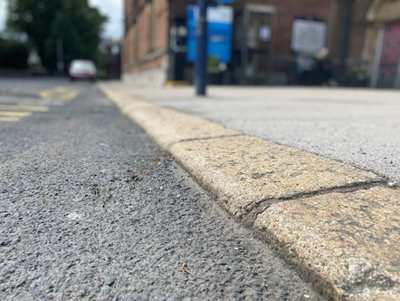 Accessibilty Fund Cumbria Curb close up