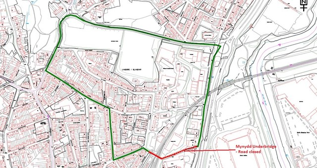 Mynydd Underbridge diversionary route