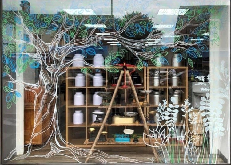 Incredible Edible mural: One of artist Penny Rowe's previous pieces of work at a local business in Garforth.