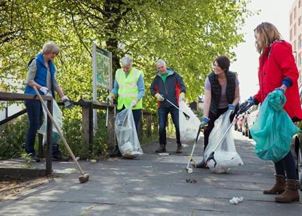 community litter picking