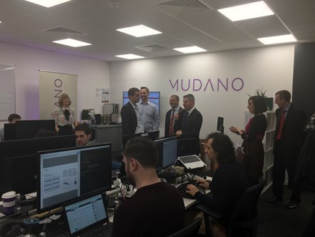 Innovation success for Mudano: Mudano visit