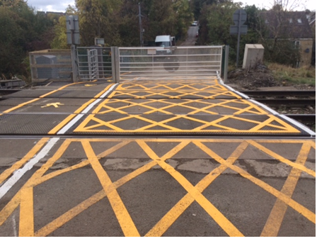 Ducketts Level Crossing- Yellow grid