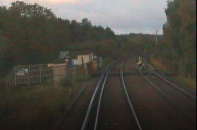 VIDEO: Network Rail warning after High Speed train almost hits cyclist near Canterbury: Cyclist across track Canterbury