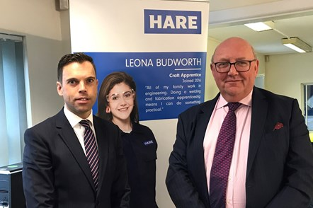 Minister with Craig Arnold of William Hare Group