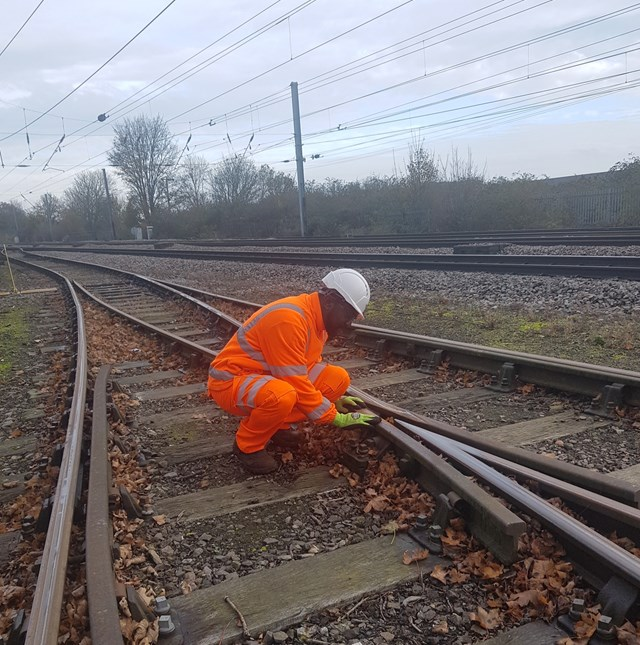 Peterborough apprentice encourages people to join Network Rail after organisation named in top 20 apprentice employers in England: Adelaja Aladejobi, Apprentice at Network Rail's Peterborough Depot