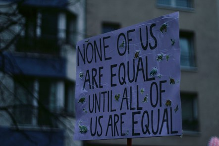 None of us are equal until all of us are equal
