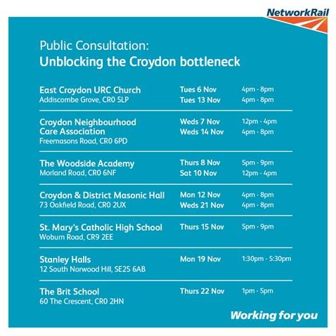 Croydon consultation dates