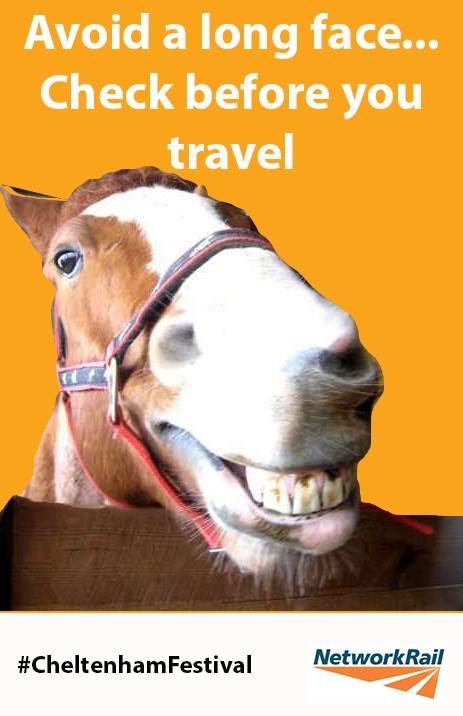 Help make travel a safe bet if heading to the Cheltenham Festival from Birmingham New Street: Cheltenham Festival check before you travel