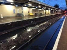 Severe flooding affects commuters travelling from Norfolk, Suffolk and Essex in London: Manor Park Flooding 2 -  23.06.16