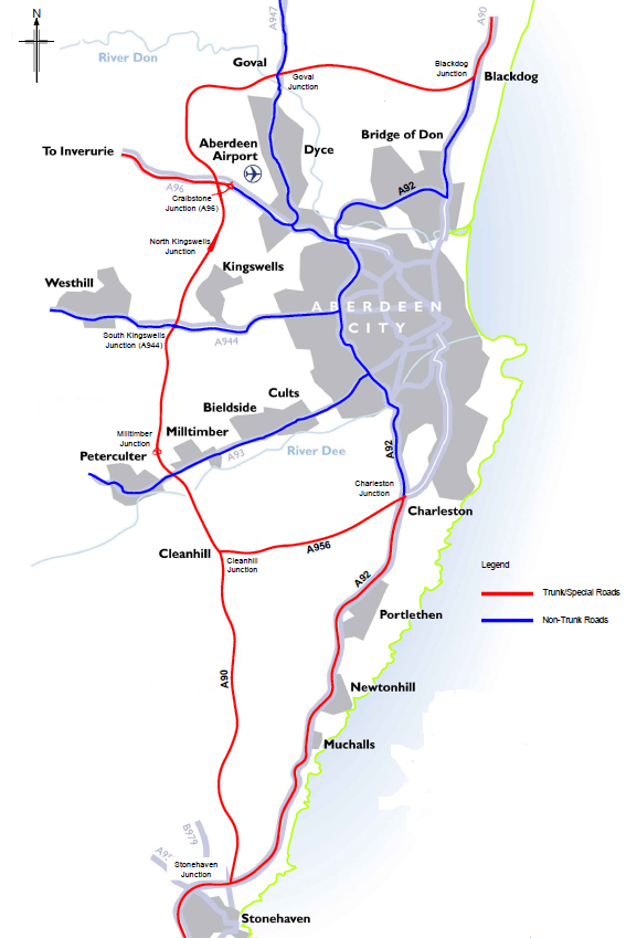 De-trunking map