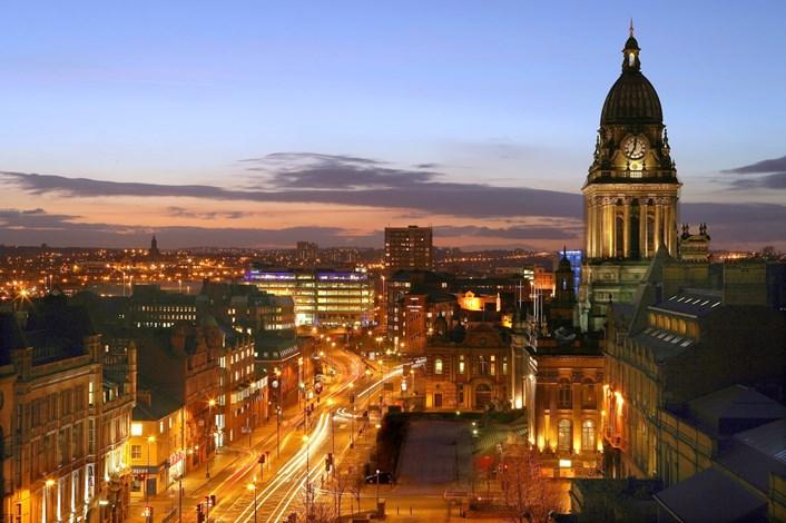 Three day music festival for Leeds pupils: townhallandtheheadrowatnight-2.jpg
