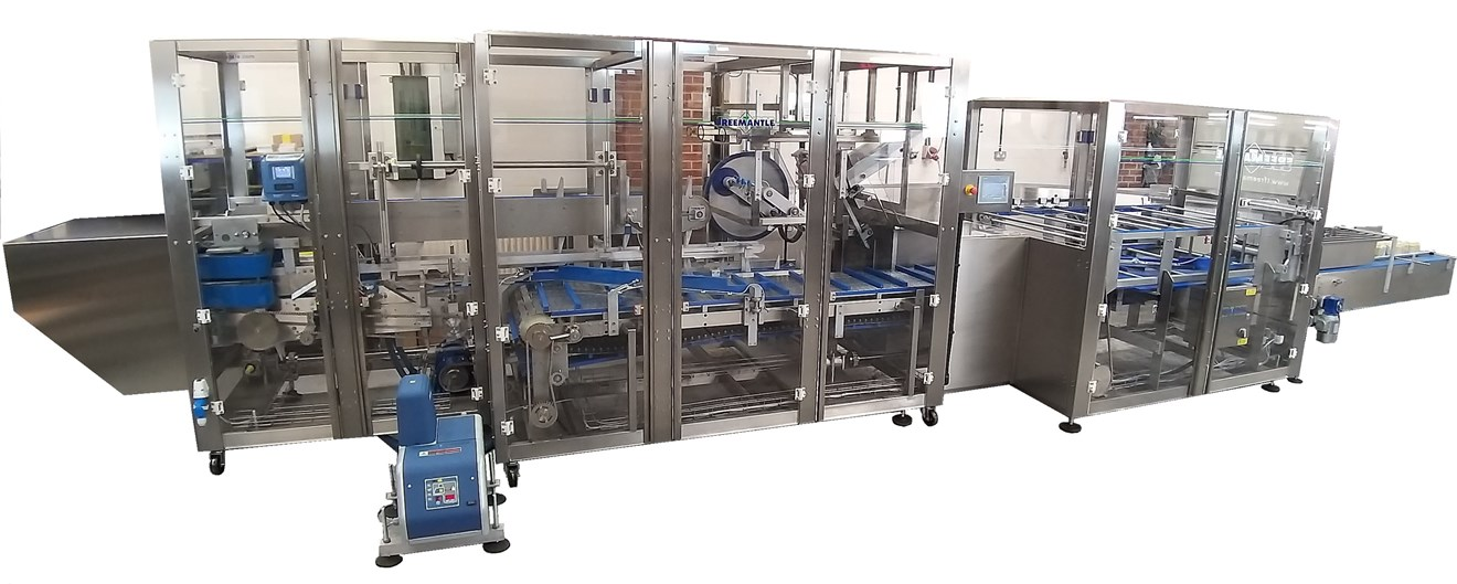 A complete Siemens solution utilising S7 1200 and V90 servo drives controlling a packing line for bottled beers
