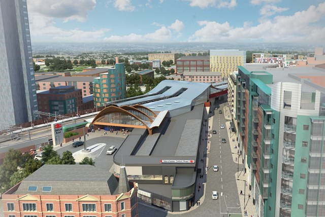 An artist's impression of the redeveloped Manchester Oxford Road station
