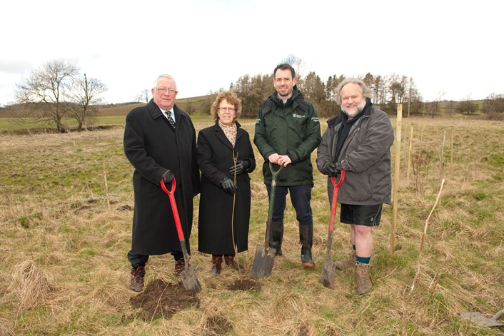 First tree planted as part of natural flood management pilot for River Aire: 003-treeplanting-phase2-floodpreventionscheme-20march2018.jpg