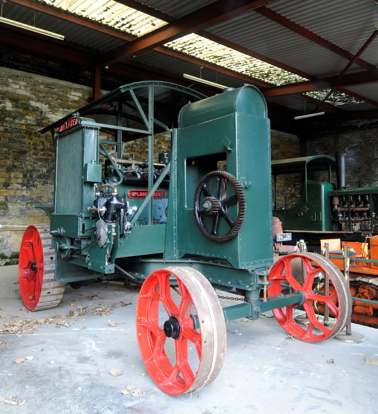 Leeds Industrial Museum: A Leeds-made ploughing windlass, like those exported around the world by local firms.