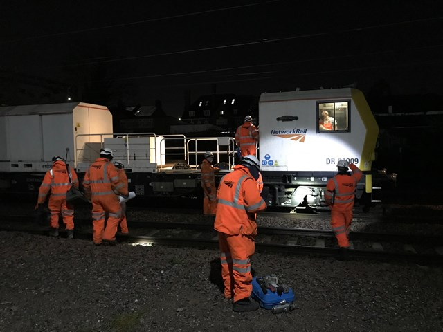 South Kenton power line repairs affect Euston services: check before you travel: South Kenton workers on site
