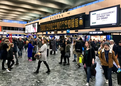 Euston Station concourse December 2018